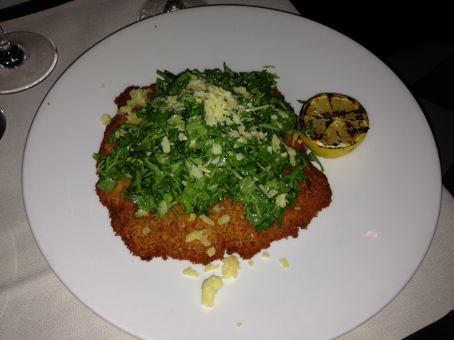 Veal Milanese with Chopped Arugula