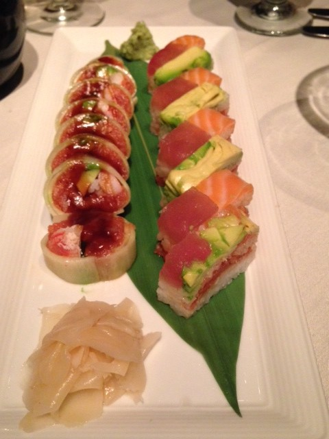 pressed sushi and vip roll