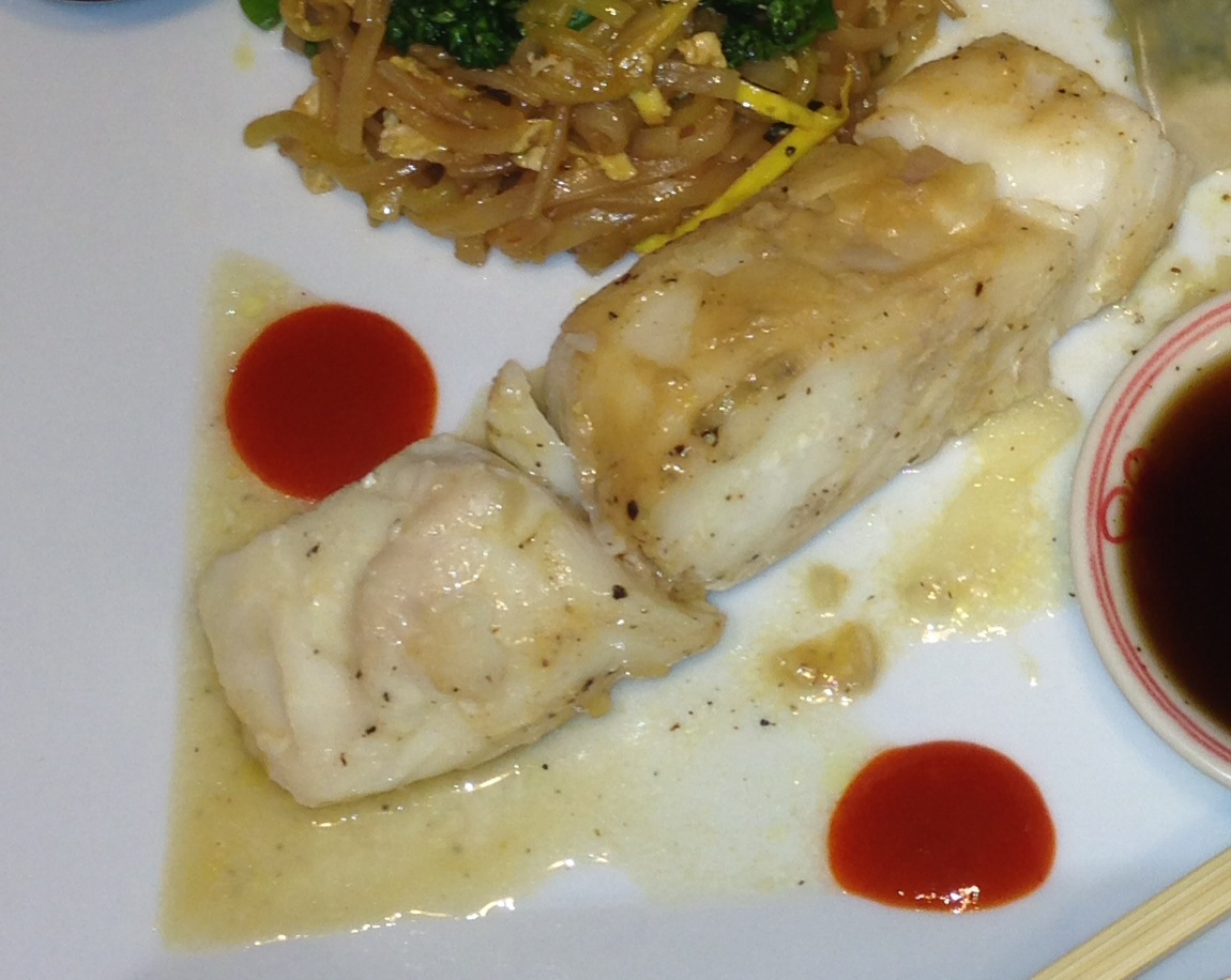 Miso style Halibut without the garlic or shallots and wine