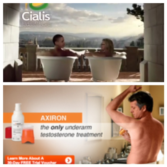 Cialis Bathtub Ads
