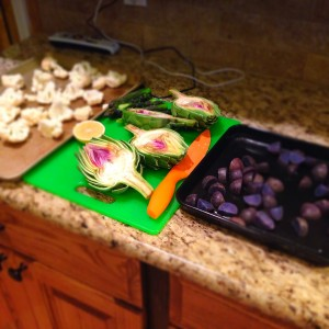 Having all the veggies prepped before makes a difference
